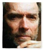 Clint Eastwood Portrait Fleece Blanket