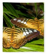 Clipper Butterflies Fleece Blanket