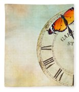 Clock Five To Twelve Fleece Blanket