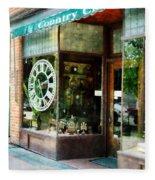 Clock Shop Fleece Blanket