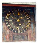 Clock Tower In Solothurn Fleece Blanket