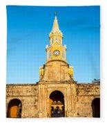 Clock Tower Gate Fleece Blanket