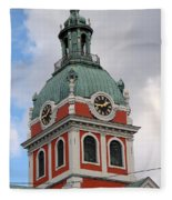Clock Tower Fleece Blanket