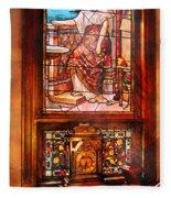 Clockmaker - An Ornate Clock Fleece Blanket