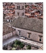 Cloistered Garden And Tower In The White City Fleece Blanket