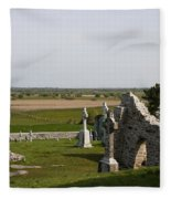 Clonmacnoise - Ireland Fleece Blanket