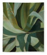 Close Cactus Fleece Blanket