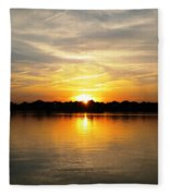 Close Of Day Fleece Blanket