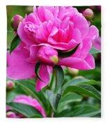 Close Up Flower Blooming Fleece Blanket