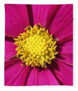 Close Up Of A Cosmos Flower Fleece Blanket
