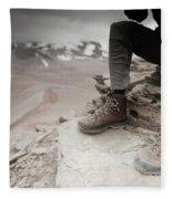 Close Up Of A Mountaineers Windblown Fleece Blanket