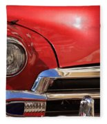 Close Up Of A Red Chevrolet Fleece Blanket
