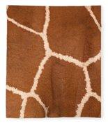 Close-up Of A Reticulated Giraffe Fleece Blanket