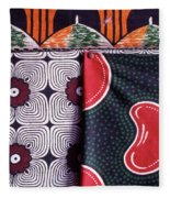 Close Up Of Colorful Khangas For Sale Fleece Blanket