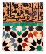 Close-up Of Design On A Wall, Ben Fleece Blanket