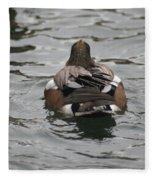 Close Up Of Duck Back Fleece Blanket
