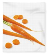 Close-up Of Fresh Carrots Fleece Blanket