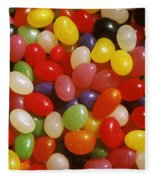 Close Up Of Jelly Beans Fleece Blanket