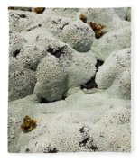 Close Up Of Lichens Commonly Called Rock Moss Fleece Blanket