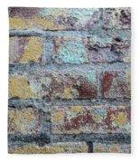 Close-up Of Old Brick Wall Fleece Blanket