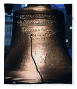 Close-up Of The Liberty Bell Fleece Blanket