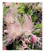 Close-up Of The Prairie Smoke Wildflower Fleece Blanket
