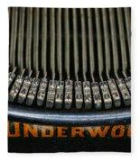 Close Up Of Vintage Typewriter Keys. Fleece Blanket