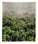 Close-up Of Water From A Sprinkler Fleece Blanket