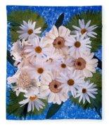 Close Up Of White Daisy Bouquet Fleece Blanket