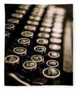 Close Up Vintage Typewriter Fleece Blanket