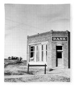 Closed Bank, 1936 Fleece Blanket