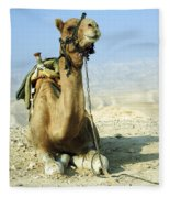 Closeup Of A Camel Fleece Blanket