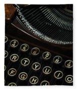Closeup Of Antique Typewriter Fleece Blanket