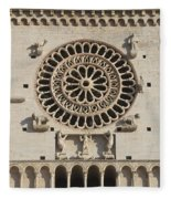 Closeup Of Assisi Cathedral Fleece Blanket