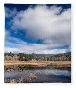 Cloud Above Dry Lagoon Fleece Blanket