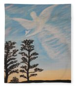Cloud Angel In Acryics Fleece Blanket