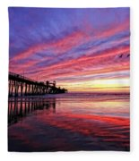 Cloud Color Waves Fleece Blanket