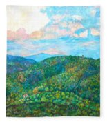 Cloud Dance On The Blue Ridge Fleece Blanket