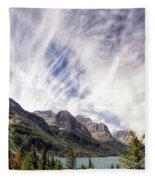 Cloud Formation At Saint Mary Lake Fleece Blanket