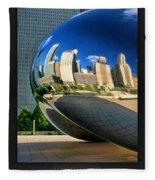 Cloud Gate Bean Poster Fleece Blanket