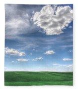 Cloud Heart Fleece Blanket