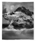 Cloud Layers Over Tantalus Fleece Blanket