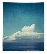 Cloud Over Island Fleece Blanket