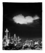 Cloud Over Seattle - Vertical Fleece Blanket