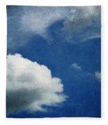 Cloud Shapes Fleece Blanket