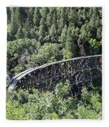 Cloudcroft Railroad Trestle Fleece Blanket