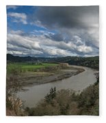 Clouds Above Eel River Fleece Blanket