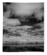 Clouds Above Klamath Fleece Blanket