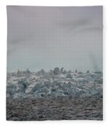 Clouds And Ice Fleece Blanket