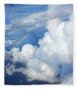 Clouds And Rainbow Fleece Blanket